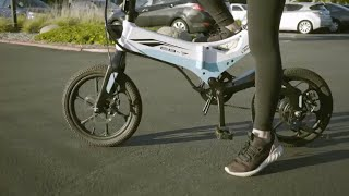 Swagtron Swagcycle EB-7 Elite Folding Electric Bike, 16-Inch Wheels, Swappable Battery with Keylock