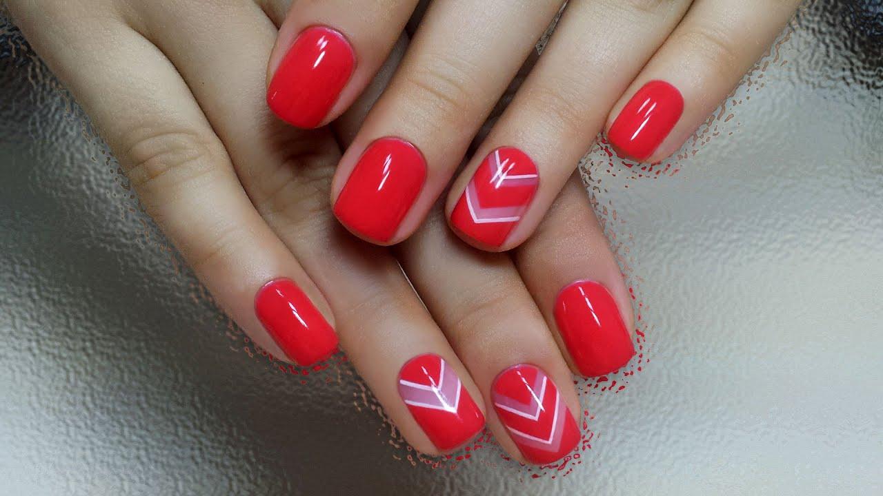 красный дизайн ногтей 2016 фото