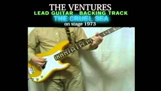 THE CRUEL SEA  The Ventures Lead Guitar Backing Track 3/20 (with Bob Bass cover)