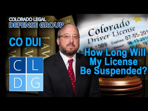 License suspensions for a DUI and DWAI here in Colorado