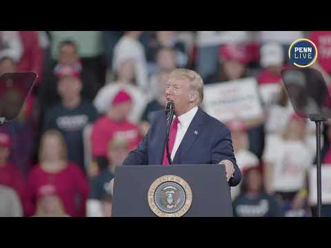 President Donald Trump speaks at his Hershey rally (full speech)