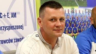Trener Marcin Truszkowski (Korona Ostro³êka) po meczu z MKS Przasnysz