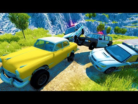 EXTREME OFF ROAD POLICE CHASES AND GETAWAYS - BeamNG Drive Crash Test Compilation Gameplay