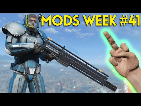 Fallout 4 TOP 5 MODS (PC & XBOX) Week #41 - VEHICLES, GIANT RIFLE, B-35C ARMOR