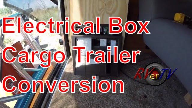 Electrical Box Install Wall BasketsCargo Trailer Conversion