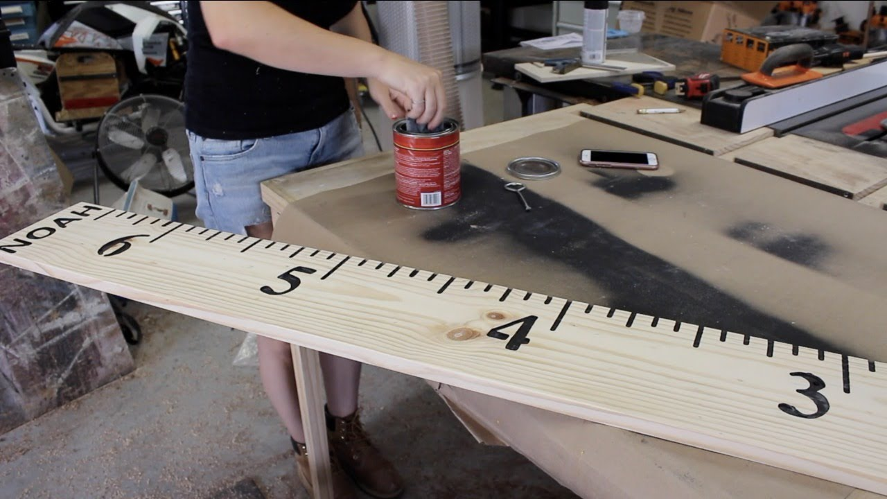 How To Make Kids Growth Chart Ruler Youtube