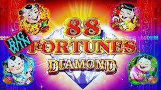 ✪NEW 88 Fortunes DIAMOND 3 Reel Slot Machine ✪BIG WIN✪ | Hercules Slot Machine Live Play