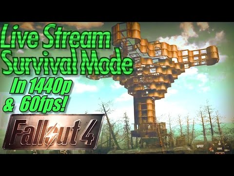 Fallout 4 Far Harbor Live Stream in 1440p and 60fps, The Tallest Building in Maine