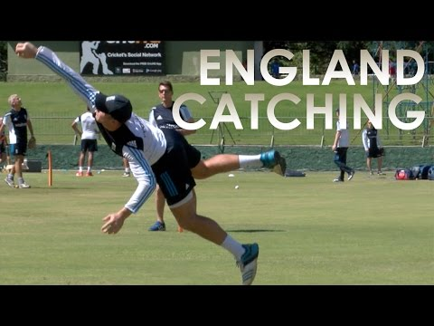 England cricket catching session with Google Glass
