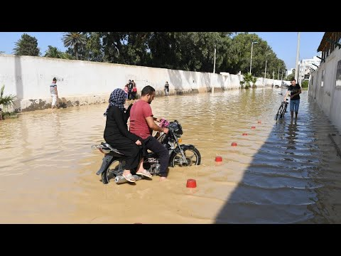 Record rains set off deadly flash floods in Tunisia