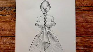 Güzel Elbise Çizimi Kolay 👗 Kız Çizimi  Kız Nasıl Çizilir