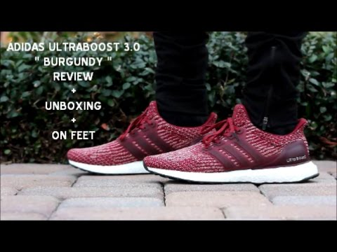 the latest f40ef 010fa ADIDAS ULTRA BOOST 3.0 BURGUNDY UNBOXING + ON FEET - YouTube