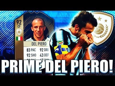 PRIME ICON DEL PIERO 92!! IS THIS THE BEST DEL PIERO? FIFA 18 ULTIMATE TEAM