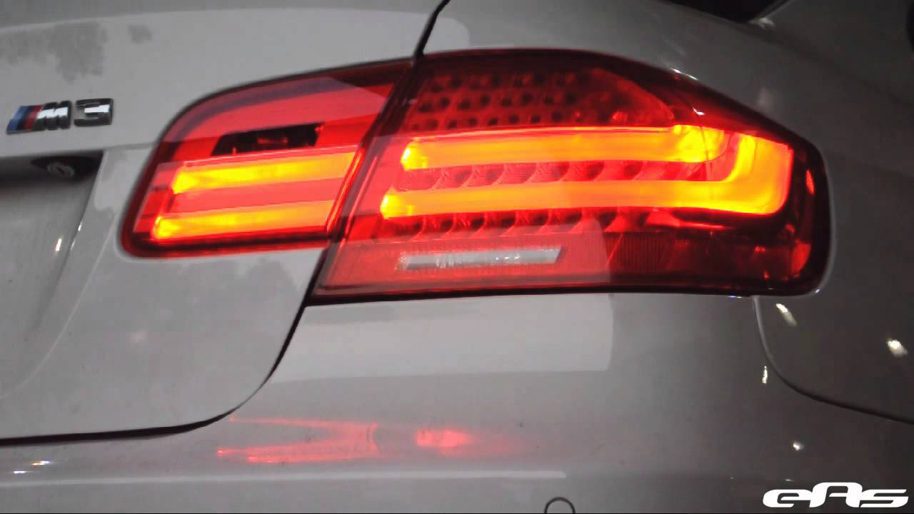 eas euro lci led tail lights for e92 demo yellow
