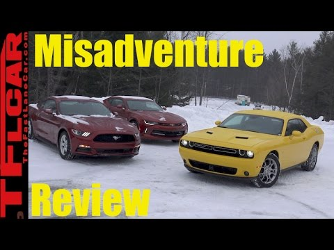 2017 Dodge Challenger GT AWD vs Ford Mustang vs Chevy Camaro Mashup Misadventure Review