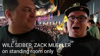 What's it like in the standing room only area for Golden Knights games?