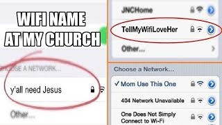 Funny WiFi Names Used To Troll The Neighbours