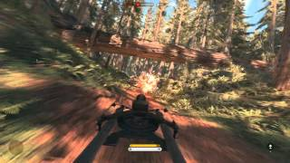 Star Wars Battlefront - PC 4K Ultra Settings Gameplay - SPEEDER BIKE - Endor Run