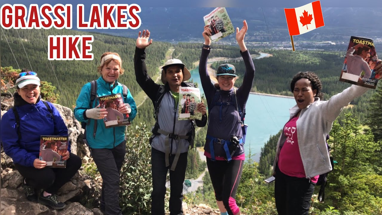 Grassi Lakes Hike In Canadian Rockies, Kananaskis, Canada. Toatmasters Division F District 42 Team.