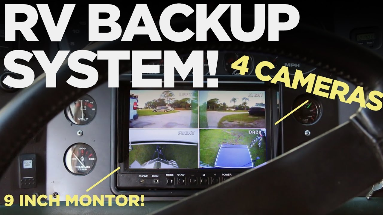 4 Camera RV Backup System | Install and DEMO! on