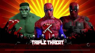 Wwe 2k17 spiderman vs deadpool vs the hulk in a triple threat match