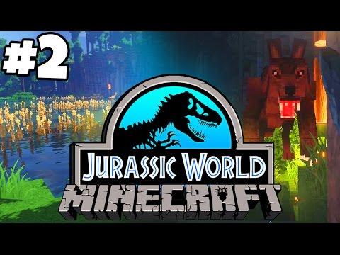 Jurassic World: Minecraft Dinosaurs   WEREWOLF ATTACK! (Playthrough Part 2)