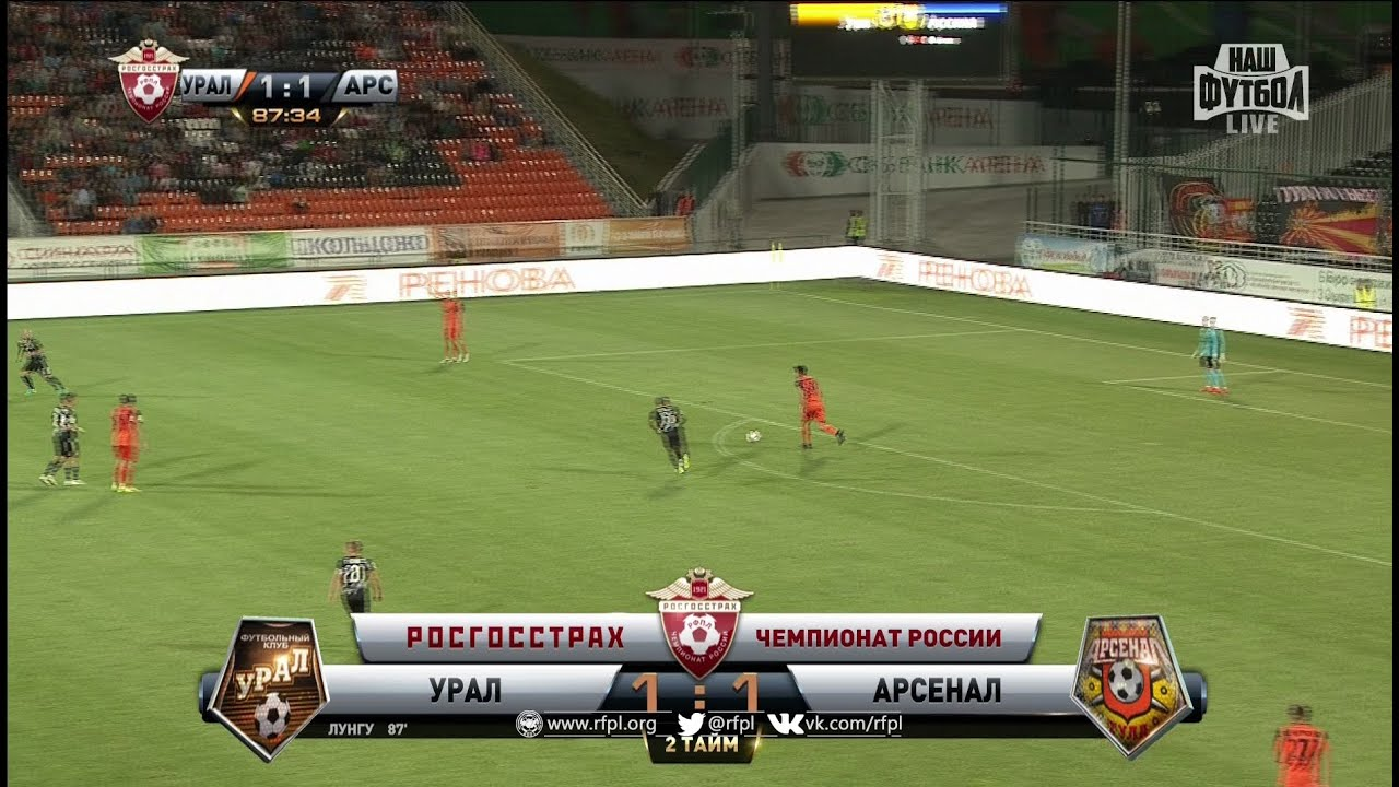 Урал арсенал футбол