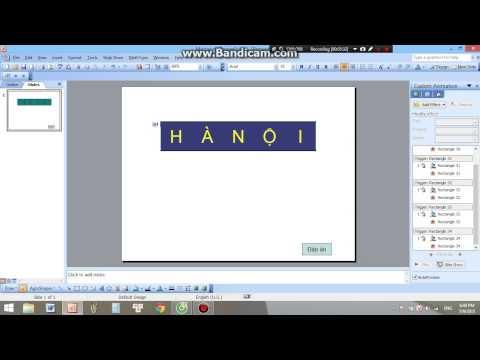 Hướng dẫn tạo ô chữ Chiếc nón kỳ diệu 2005 trong PowerPoint 2003