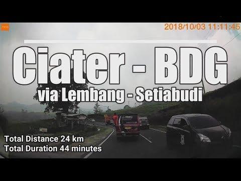 3/10/2018 Ciater - Bandung | via Lembang - Setiabudi | Timelapse #CARVLOG
