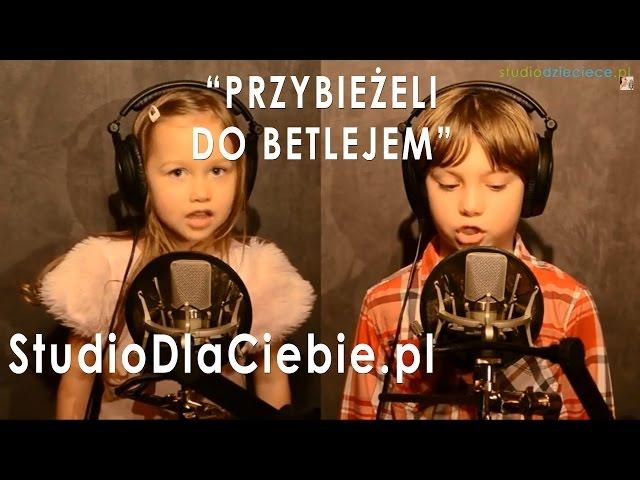 Przybieżeli do Betlejem - Hania (3,5 roku) i Michał (6 lat) Poloczek