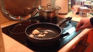 Готовим жареную картошку и требуху(рубец).