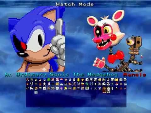 M.U.G.E.N. Mangle vs An Ordinary Sonic