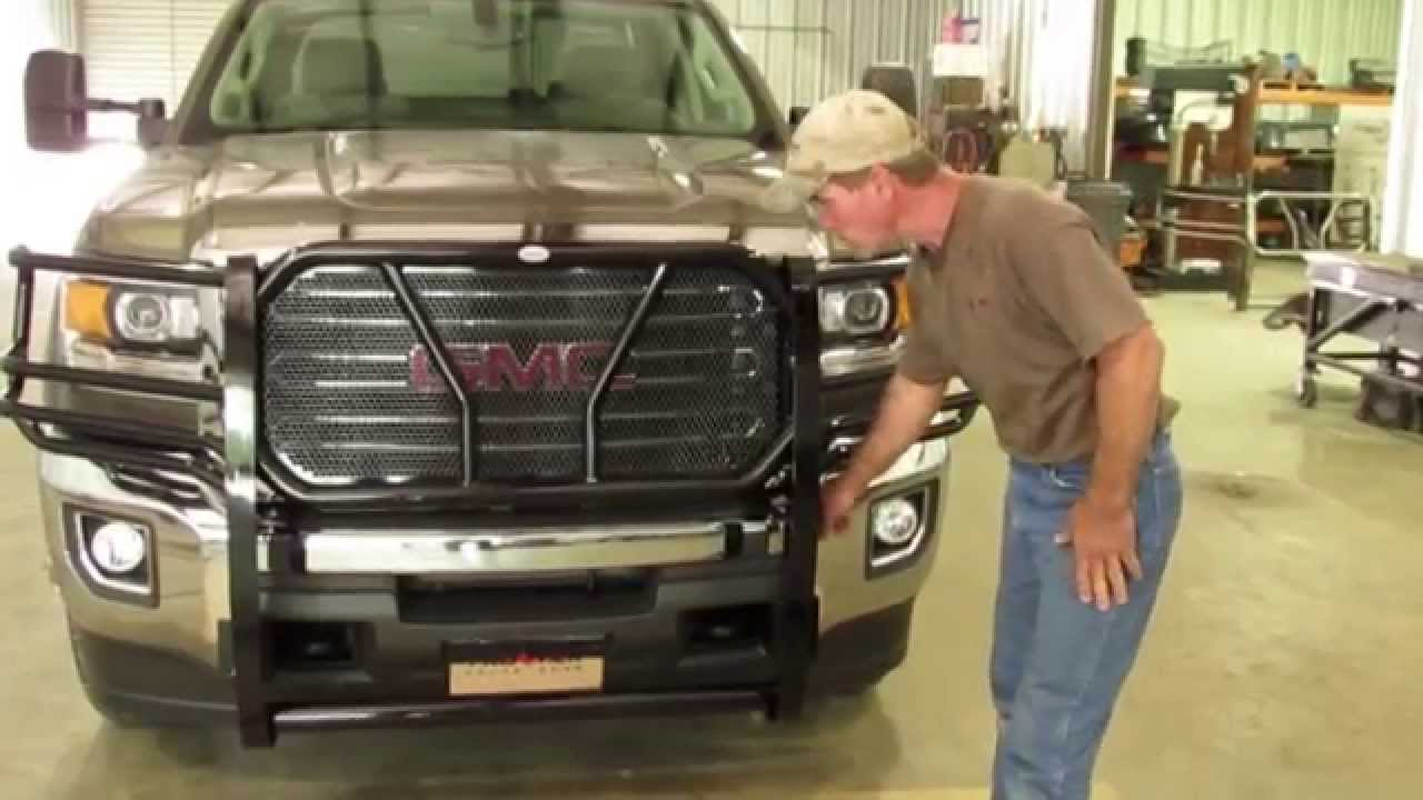 Frontier Grille Guard 2015 17 GMC  2500  3500 Installation   YouTube