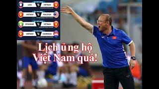 Lịch thi đấu AFF Cup 2018 của Việt Nam: Không thể thuận lợi hơn | Thể Thao 247