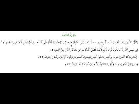 SURAH AL-MAEDA #AYAT 54-56: 6th May 2021