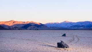 My setup to shoot the sailing stones in Death Valley