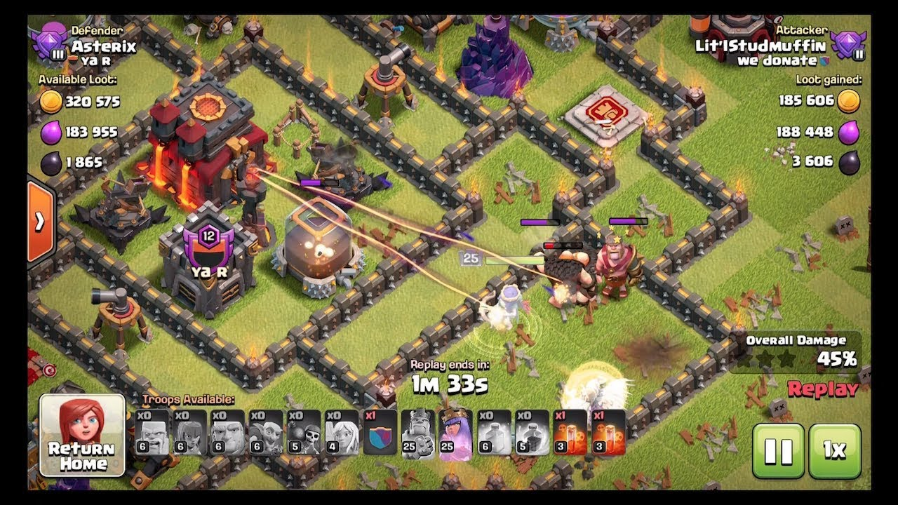 2nd Acc Replays - Main Acc Dark Elixier Faming - Clash of Clans