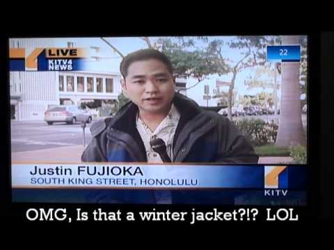 Freezing temperatures in Hawaii winter shocking video oahu island cold amazing!