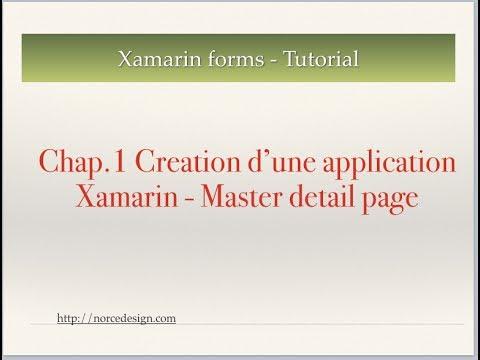 Xamarin forms tutoriel - Developpement application iOS et Android - Chap.1