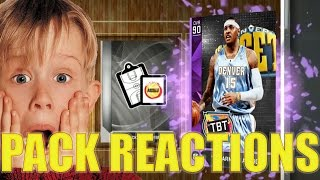 AMETHYST CARMELO ANTHONY PULLS! NBA 2k16 MyTeam Top 5 Pack Opening Reactions!