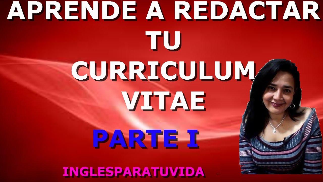 CURSO DE INGLÉS: APRENDE A REDACTAR UN CURRICULUM VITAE EN INGLÉS ...