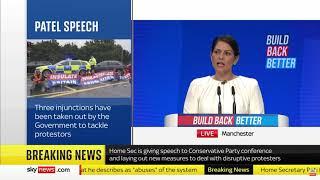 Priti Patel's Conference Speech | 5 October 2021 | Insulate Britain