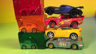 lightning mcqueen jackson storm cruz ramirez and chick hicks disney pixar cars 3 racers learn colors