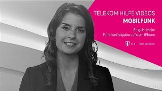 Telekom: Familienfreigabe auf dem iPhone einrichten