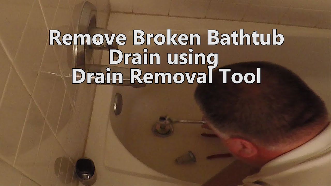 How To Remove a Bathtub Drain With Broken Cross Members ...