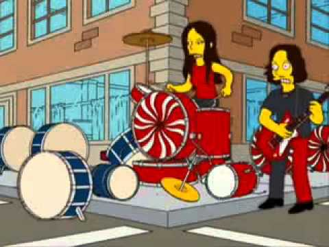 The White Stripes   The Hardest Button To Button ft  Bart Simpson