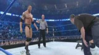 Batista Spinebuster to Cody Rhodes