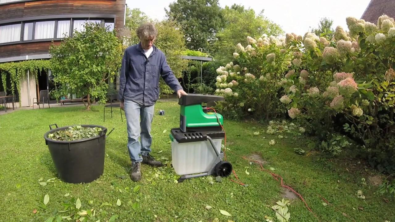 aldi gardenline woodchipper test 2017 - youtube