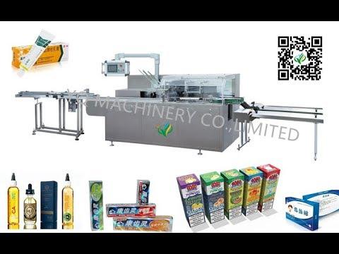 automatic cartoning machine manufacturer for 10ml 30ml 60ml e juice liquid bottle cartoners