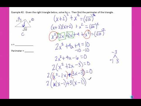 Unit 11 - Day 4 - Factoring in Geometry
